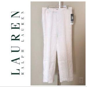 Lauren Ralph Lauren White Linen Pants 100%…